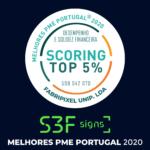 A 𝐒𝟑𝐅 𝐒𝐈𝐆𝐍𝐒 – Fabripixel Unip. Lda foi distinguida como TOP 5% melhores PME Portugal 2020