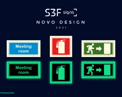 New Design Photoluminescent Signage S3F Signs 2021